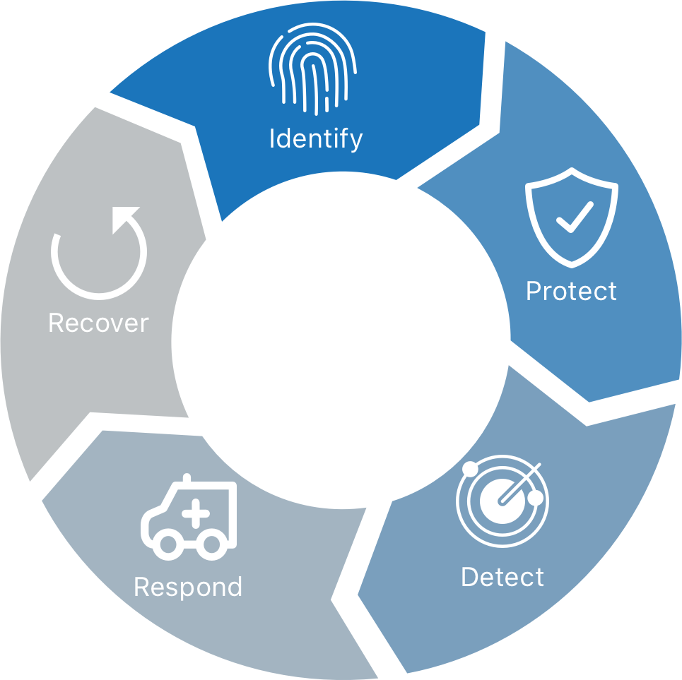 identity, protect, detect, respond, recover